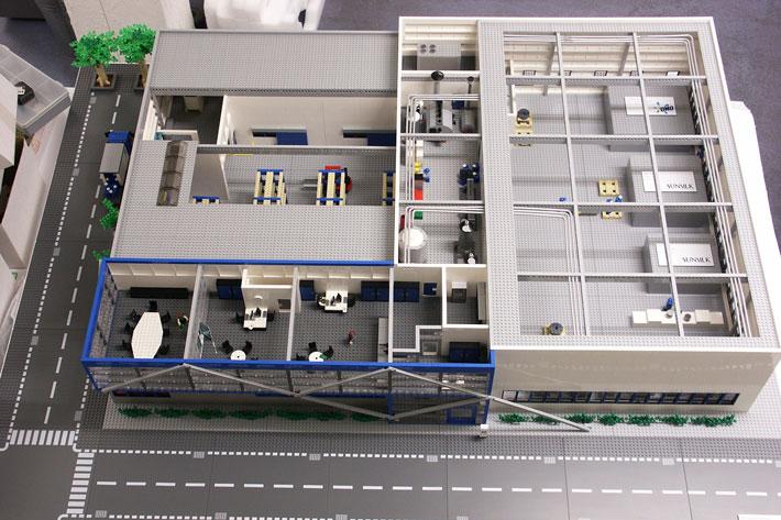 LEGO Maquette Unilever Vlaardingen