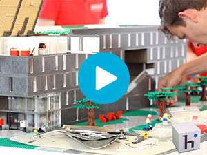 LEGO maquette Jan Snel video