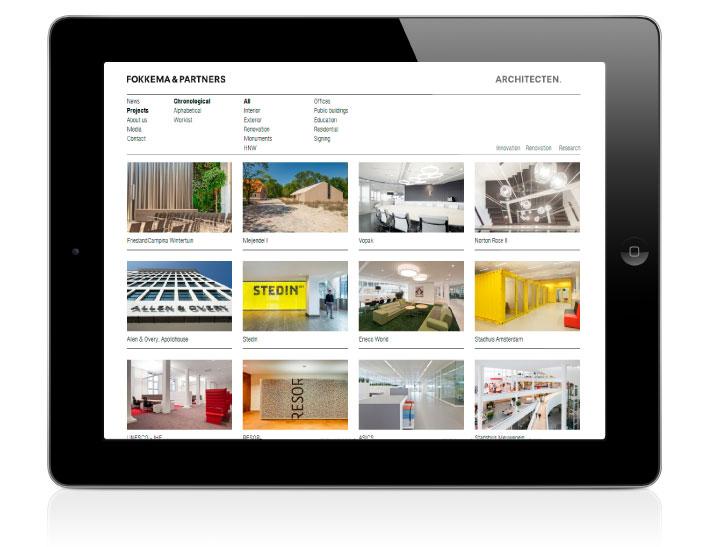 Fokkema & Partners Architecten website