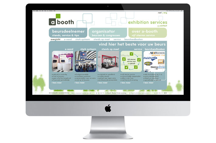 A-Booth Exhibition Services website