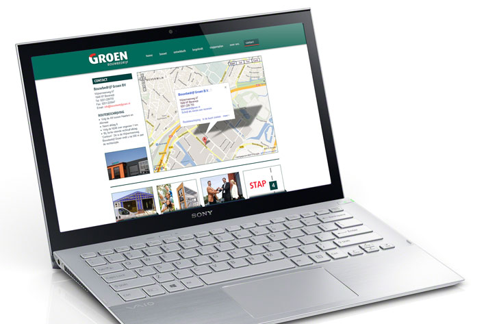 Bouwbedrijf Groen website