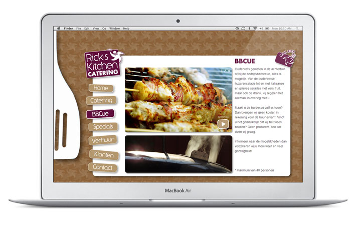 Rick's Kitchen website