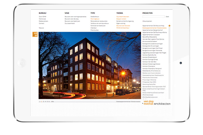 Van Dop + Mathot Architecten website
