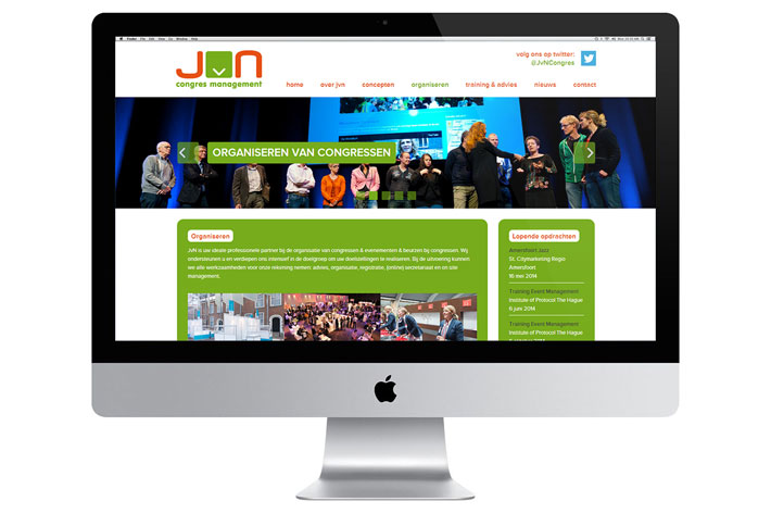 JvN Congres Management website