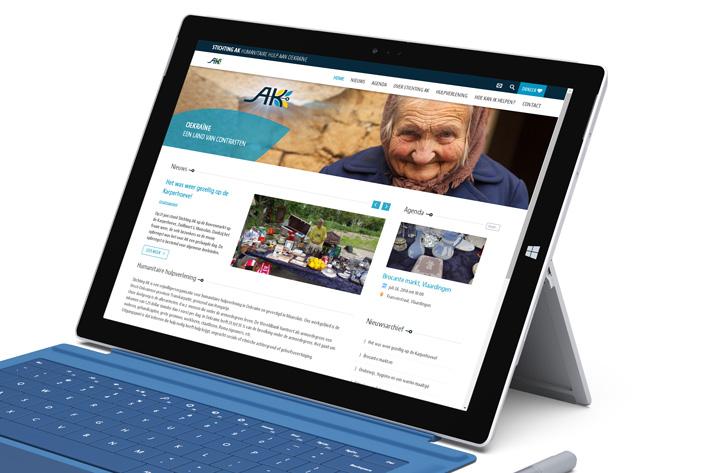 Stichting AK website homepage
