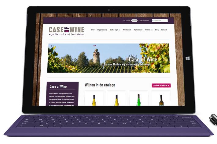 Horizon Creative Case of Wine website