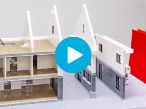 Bouw modulair LEGO huis