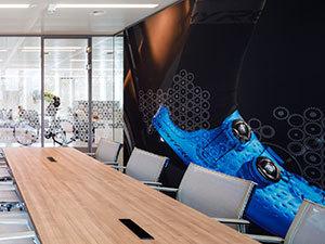Shimano interior & signing graphics