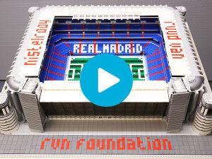 LEGO maquette Bernabeu Stadion